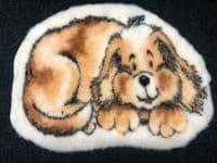 Funky Fun Soft Faux Fur Fabric Rug - MARMALADE DOG